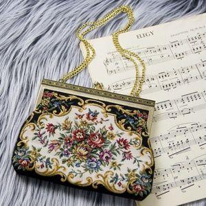 Handbags - 》SOLD《 Vintage floral needlepoint purse